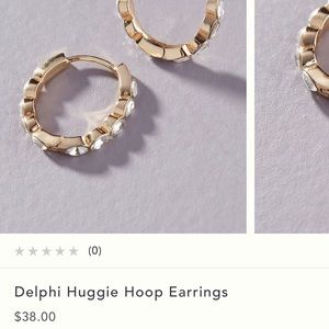 Anthropologie Delphi huggie hoop earring